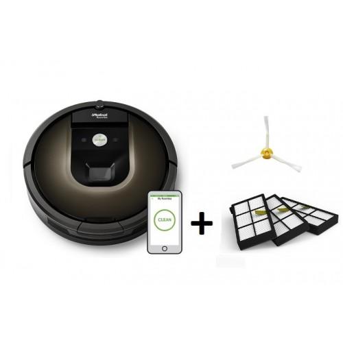 iRobot Roomba 980 + фильтры 3 шт + боковая щетка