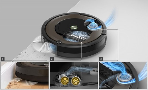 Технологии уборки Roomba 896