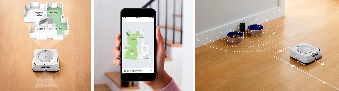 iRobot Braava jet m6 строит карту помещения для более качественной уборки