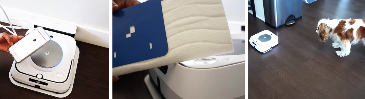 iRobot Braava jet m6 процесс уборки