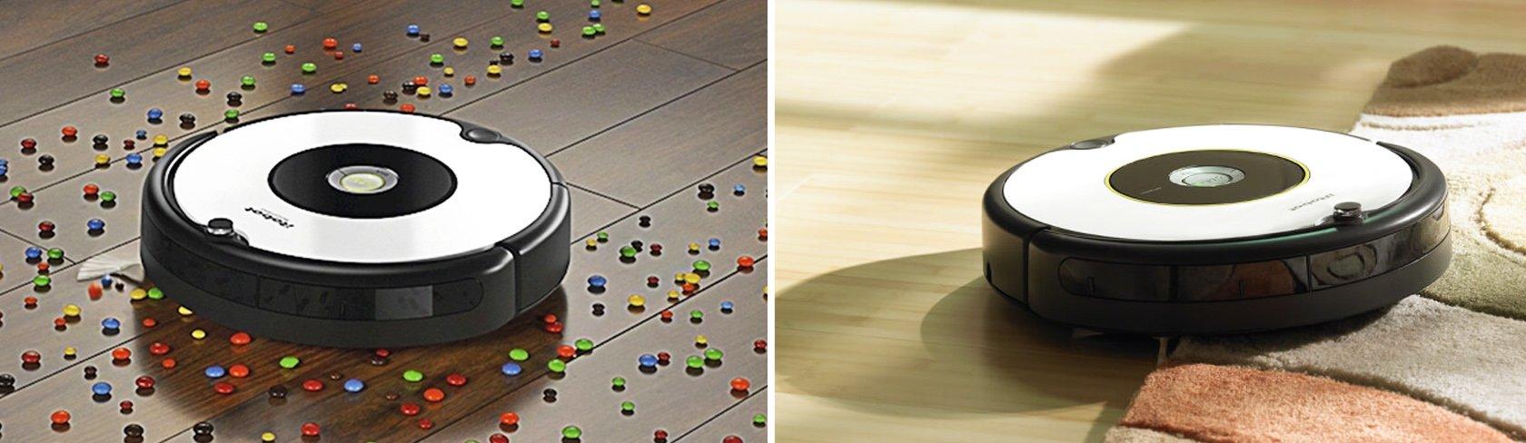 iRobot roomba 605 убирает на всех видах покрытий