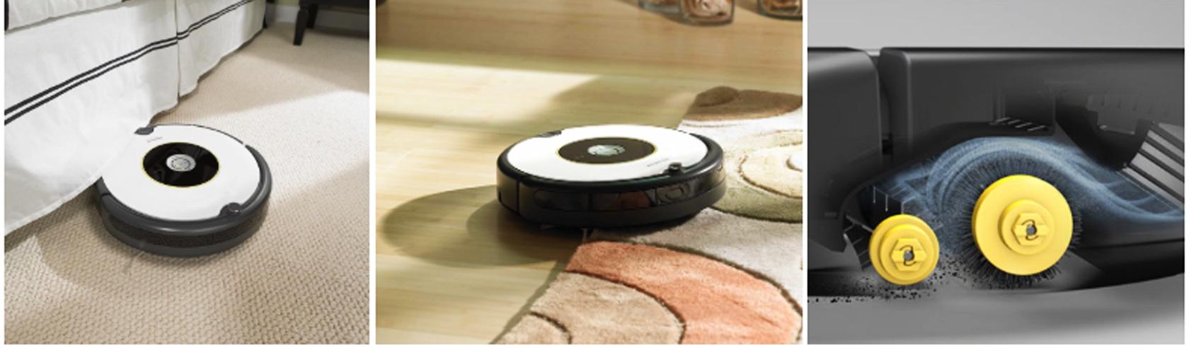 iRobot Roomba 605 не запутывается в проводах и в шерсти