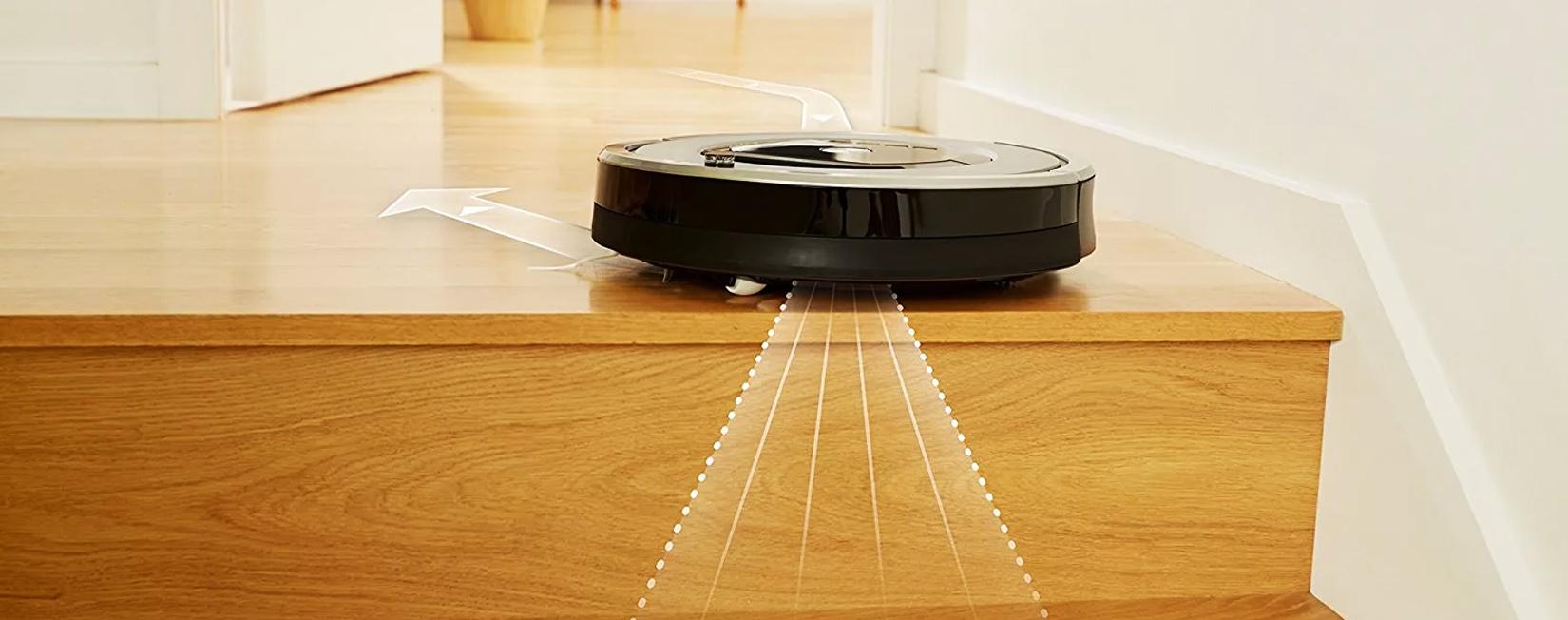 iRobot Roomba 676 не падает со ступеней