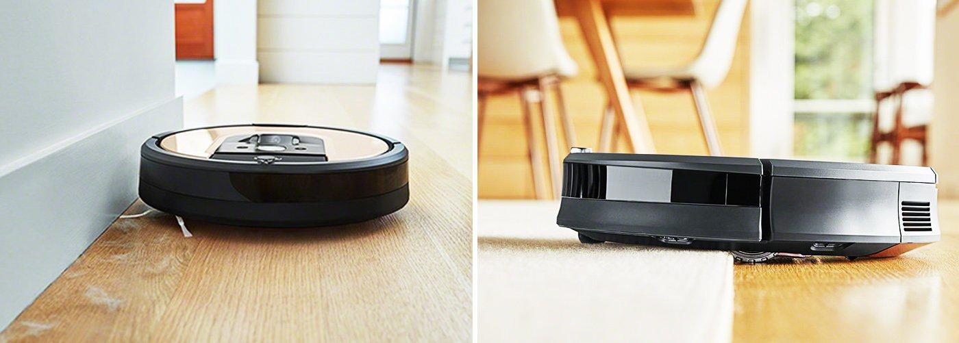 iRobot Roomba 976 убирает на всех видах покрытий
