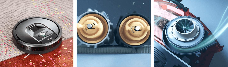 Трехступенчатая система уборки в роботе пылесосе irobot roomba 980