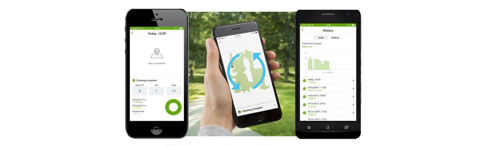 Управление со смартфона роботом-пулесосом Roomba i7+
