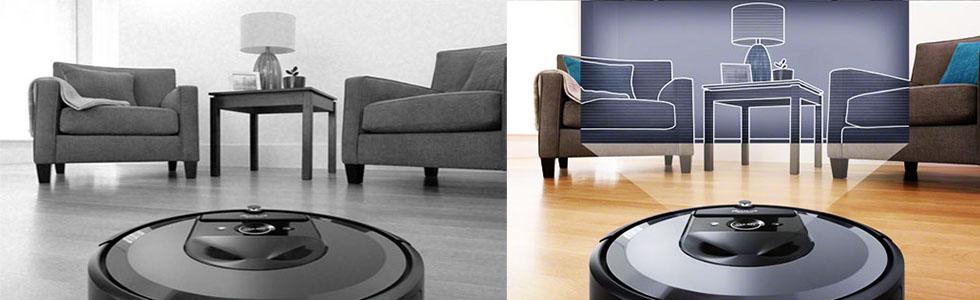 Система навигации в роботе пылесосе iRobot Roomba i7+