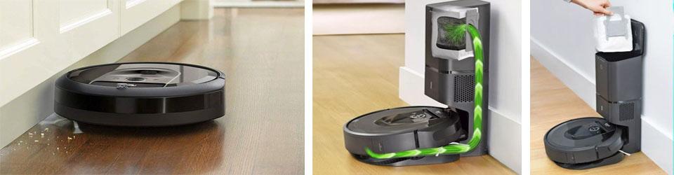 Автоматическая очистка мусорного контейнера Roomba i7+