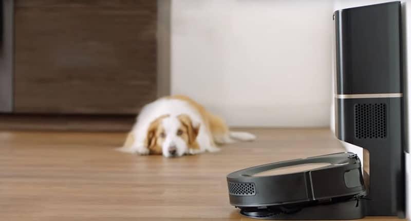Робот пылесос iRobot Roomba s9+ качественно убирает шерсть домашних животных