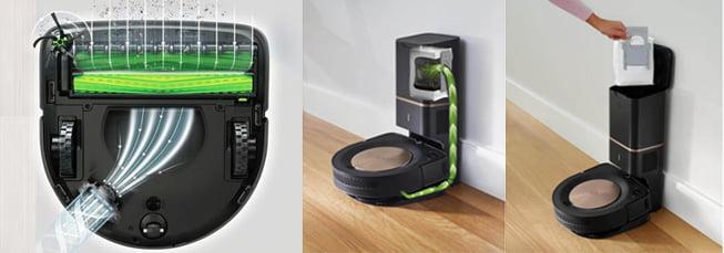 Автоматическое сбрасывание мусора роботом пылесосом Roomba s9+