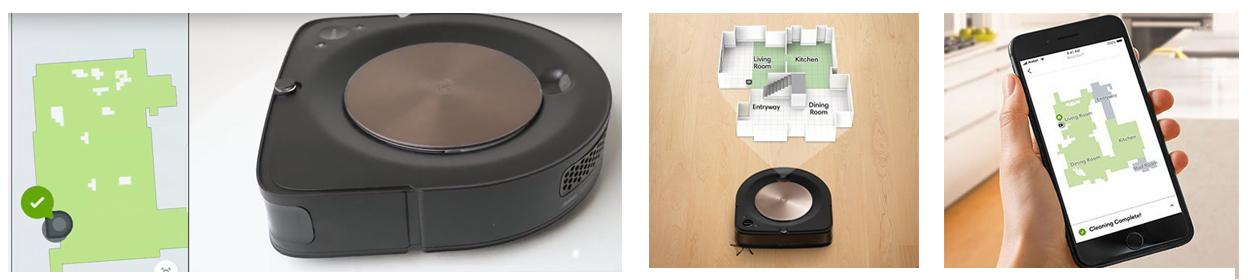 Робот пылесос iRobot Roomba s9+ создает карту помещений и уборки